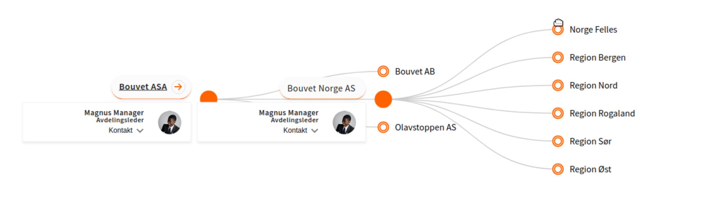 Organization map example